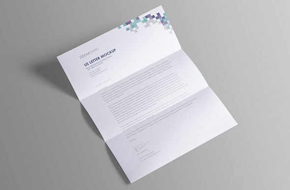 Free US Letter Paper Mock-Up