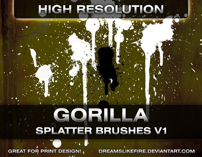 Gorilla Splatter Brushes
