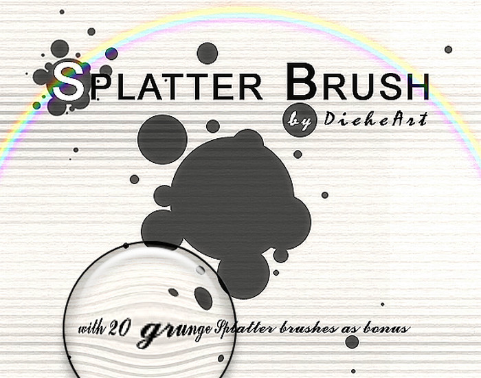 Grunge Splatter Brushes