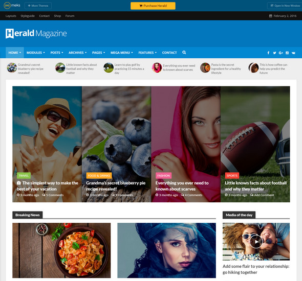 Herald - News Portal - Magazine WordPress Theme