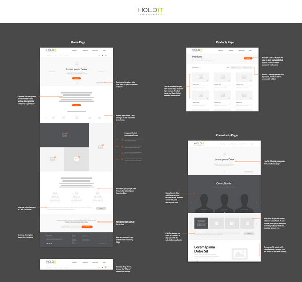 Hold It - Wireframe Annotation