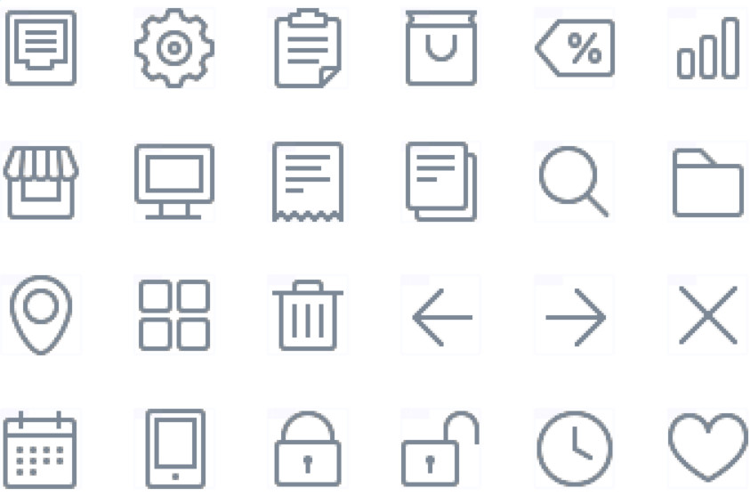 Icon Template PSD