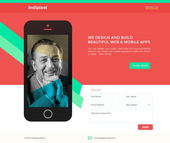 Indipixel - Free PSD Template
