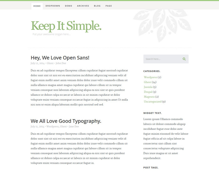 KIS - Blog Template