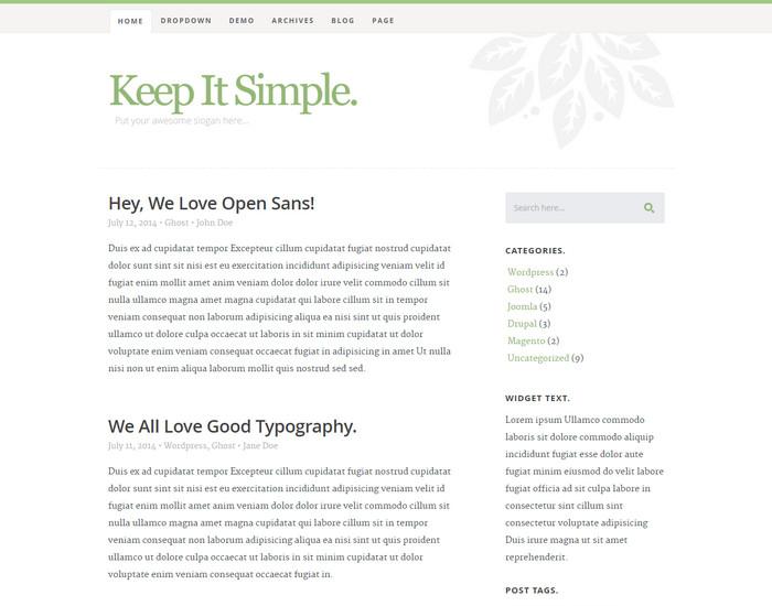 KIS - Blog Template