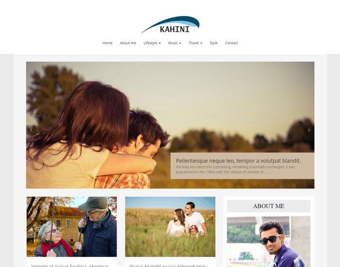 Kahini - Free HTML Blog Template