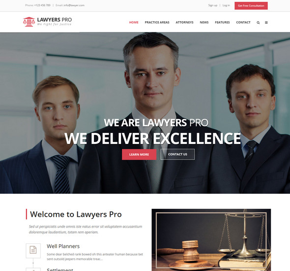 Lawyers Pro - WordPress Lawyer Theme