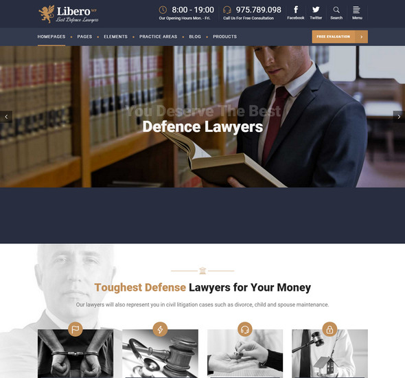Libero - Lawyer WordPress Theme