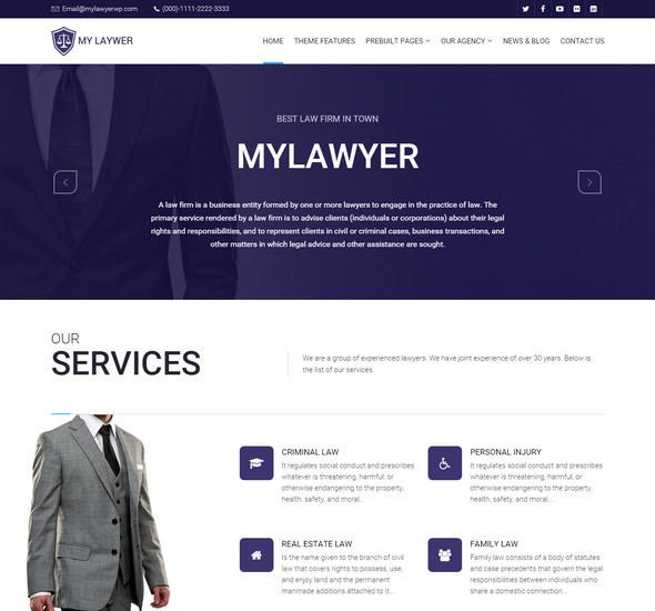 My Lawyer - WordPress Theme