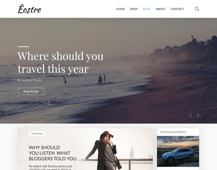 Ostre - Free Blog Template