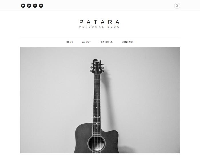 Patara - Free HTML Blog Template