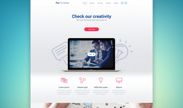 Pax Template - Free Web PSD