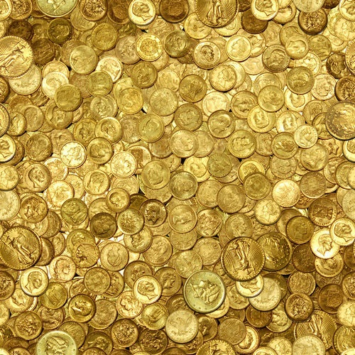 Seamless Gold Coin Texture