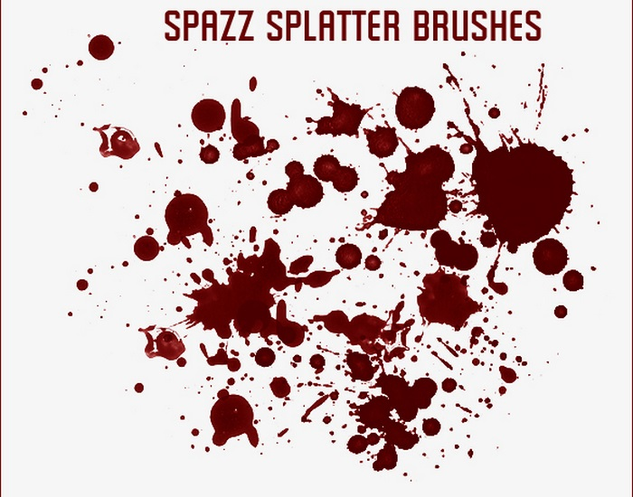 Spazz Splatter Brushes