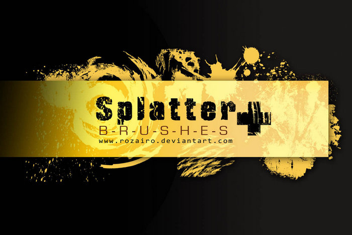 Splatter Plus - Photoshop Brushes