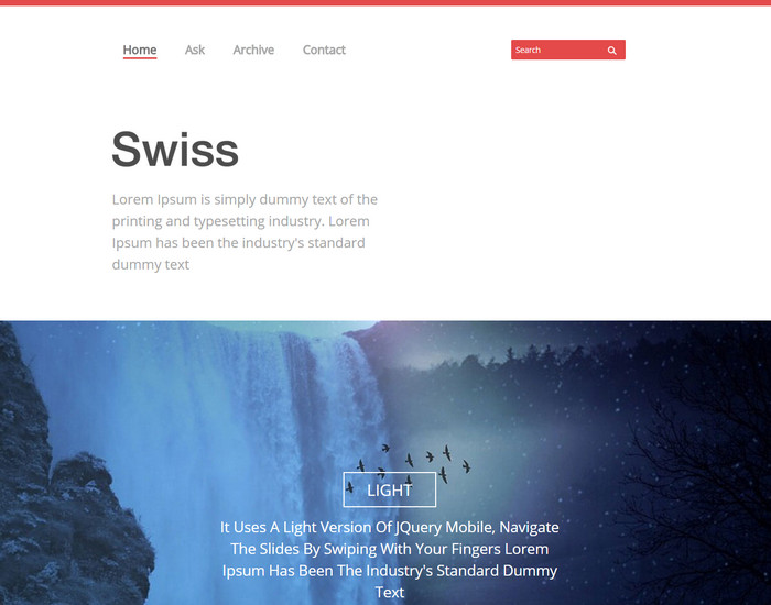 Swiss Website Template