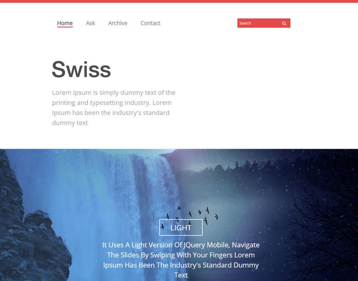 Swiss Website Template