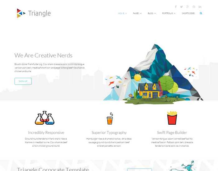 Triangle - Free Blog HTML Template