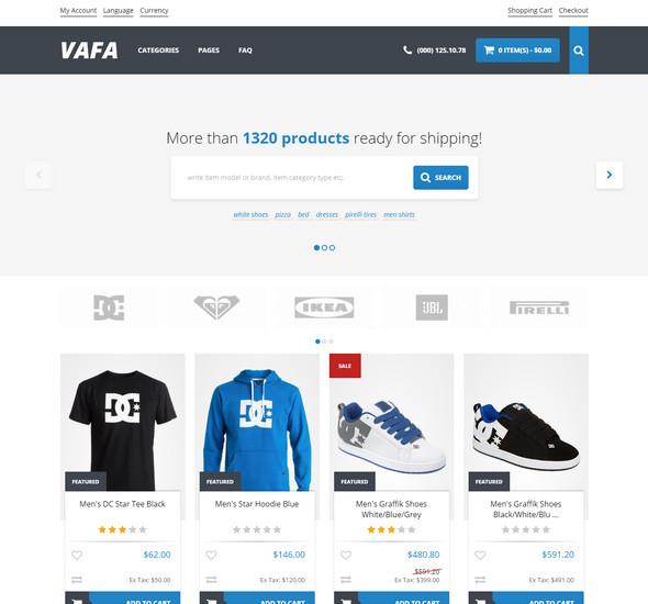 VAFA - Responsive OpenCart Theme