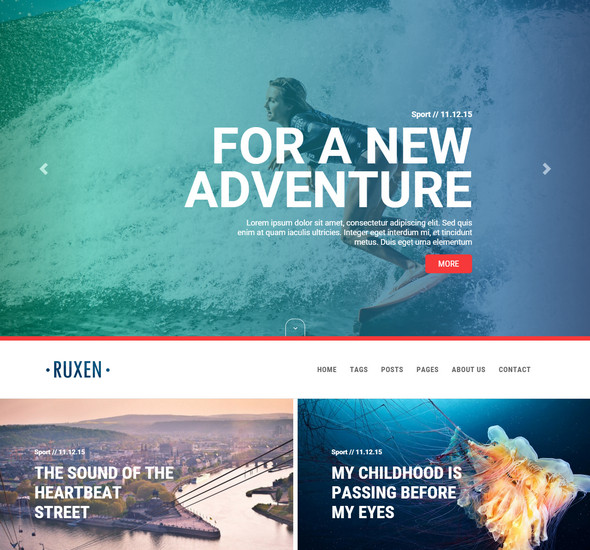 Ruxen - Responsive Ghost Blog Theme