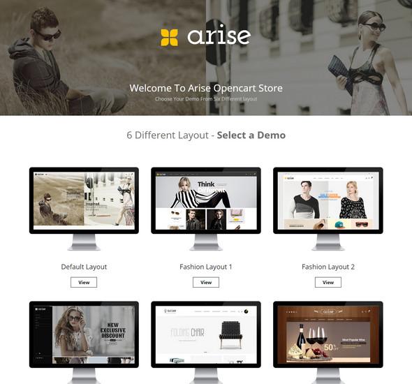 Arise - Opencart Responsive Theme