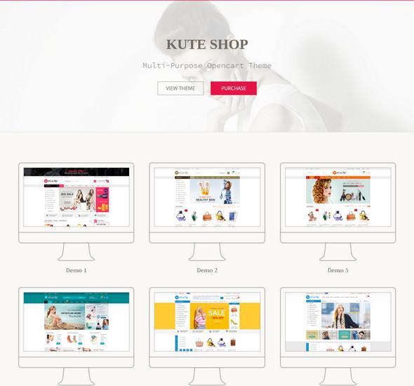 KuteShop - Multi-Purpose Opencart Theme