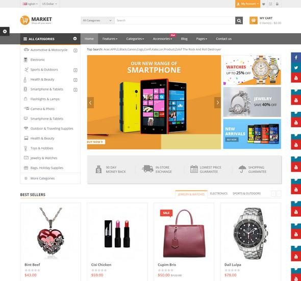 Market - Responsive Multipurpose OpenCart Theme