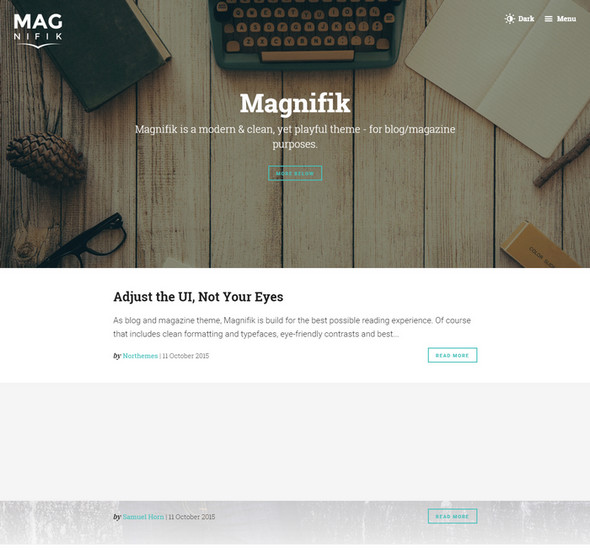 Magnifik - Writer & Reader friendly Ghost theme