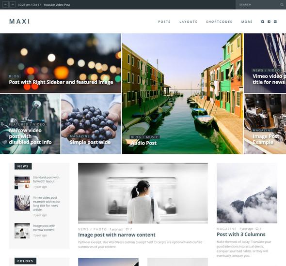 Maxi - News & Magazine Theme
