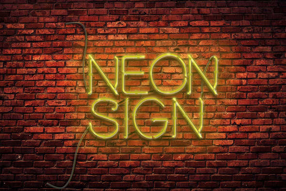 neon-text-effect in Photoshop tutorials