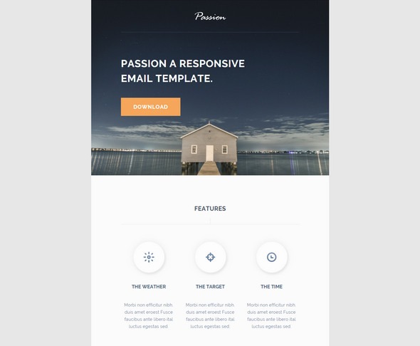passion - free email template html5/css3