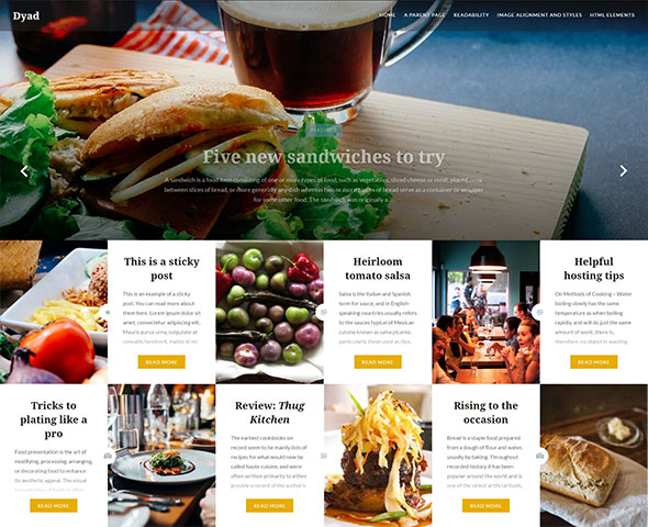 dyad - free responsive food theme