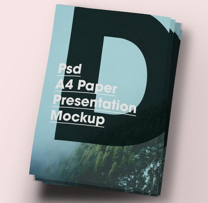 A4 Paper Brochure Flyer Mock-Up
