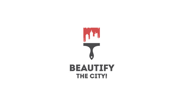 Beautiful city logo in flat colors