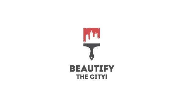 Beautiful city logo in flat colors
