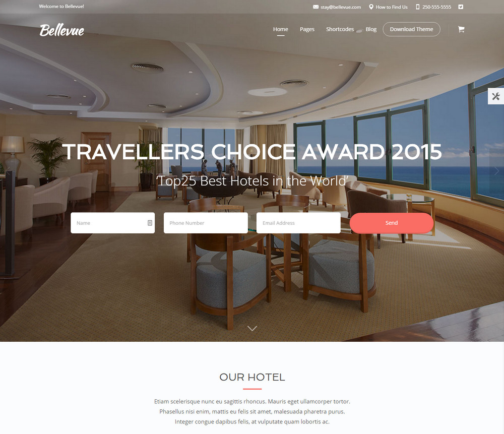 Bellevue Hotel - WordPress Theme