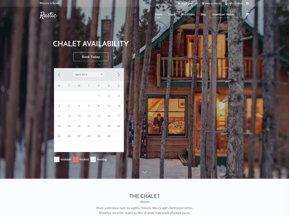 Vacation home, Bed & Breakfast Booking Theme
