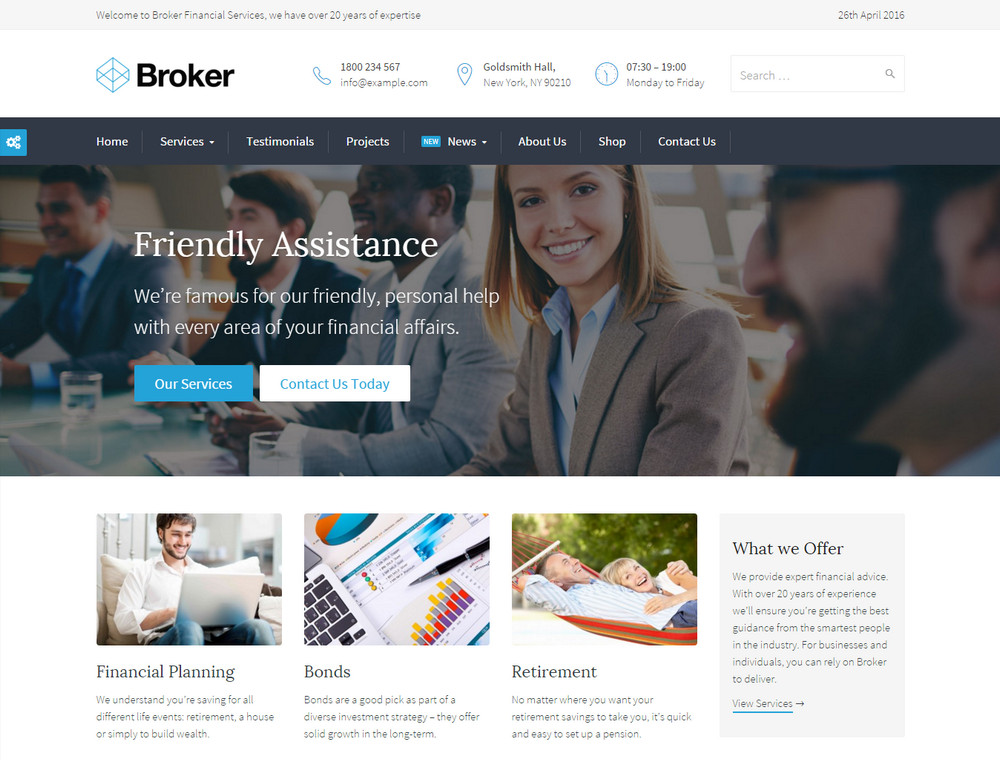 Broker - WordPress Theme