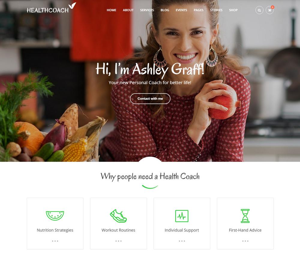 Health Coach WordPress Theme