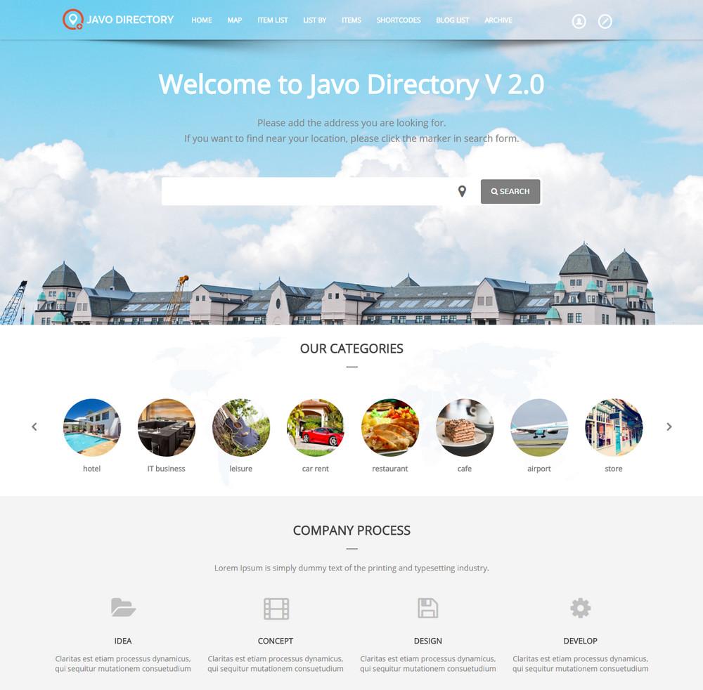 Javo Directory - WordPress Theme