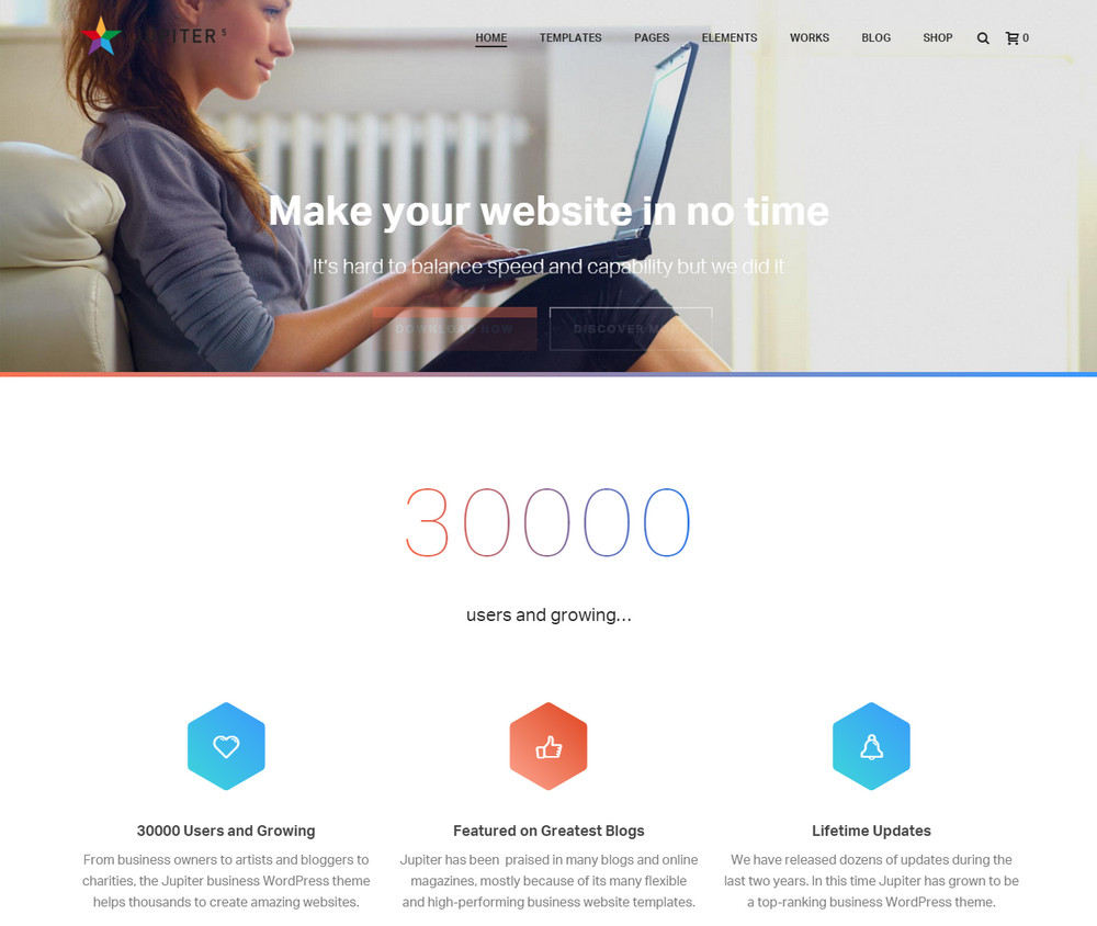 Jupiter - Multi-purpose WordPress Theme