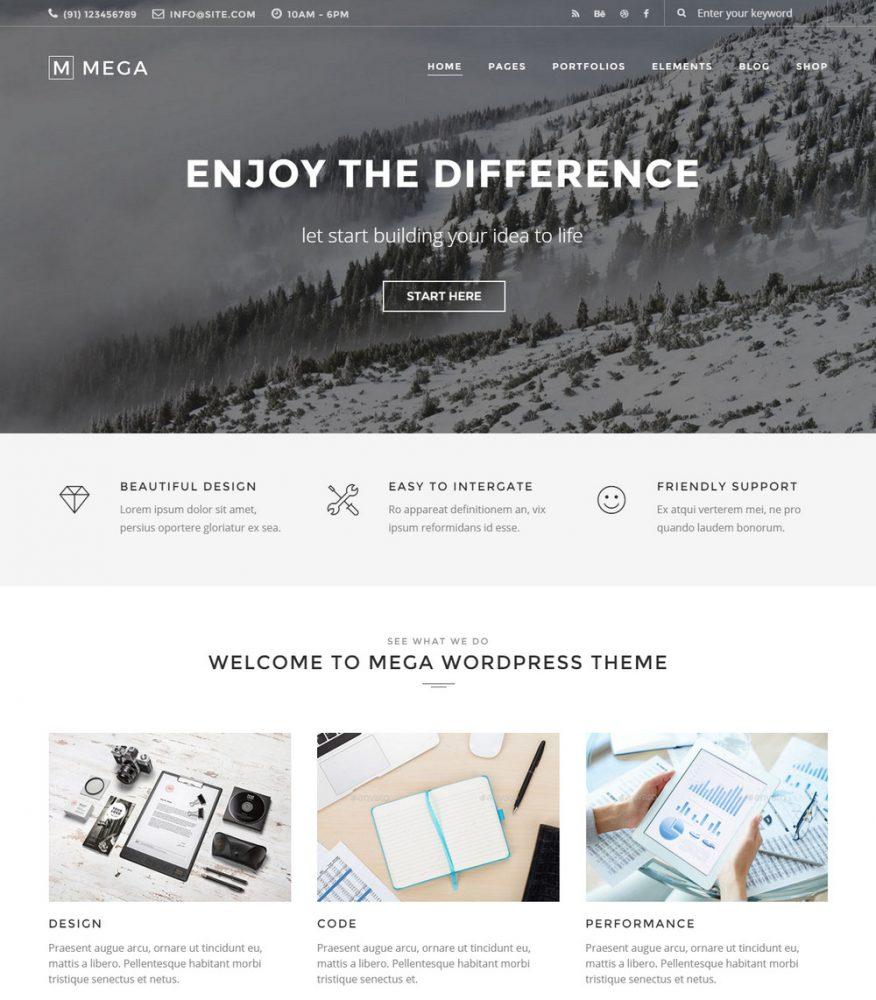 Mega - Multi-purpose WordPress Theme
