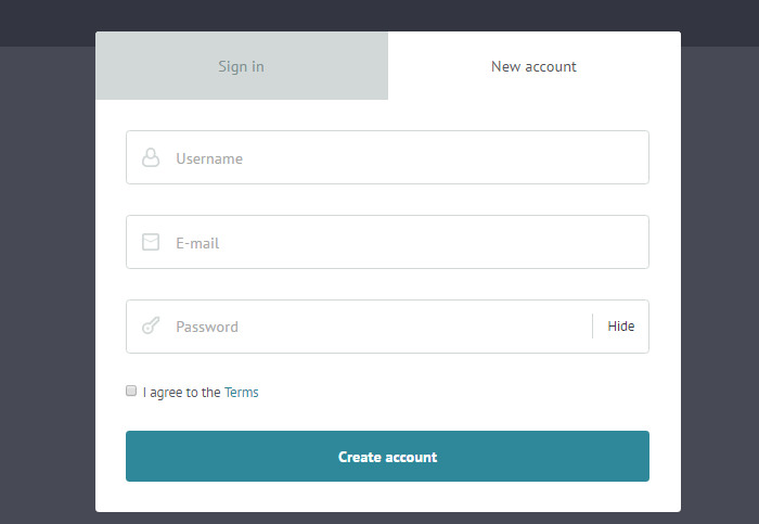Responsive Login/Signup Modal Window