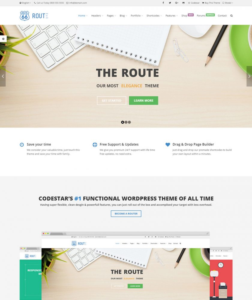 Route Responsive WordPress Theme