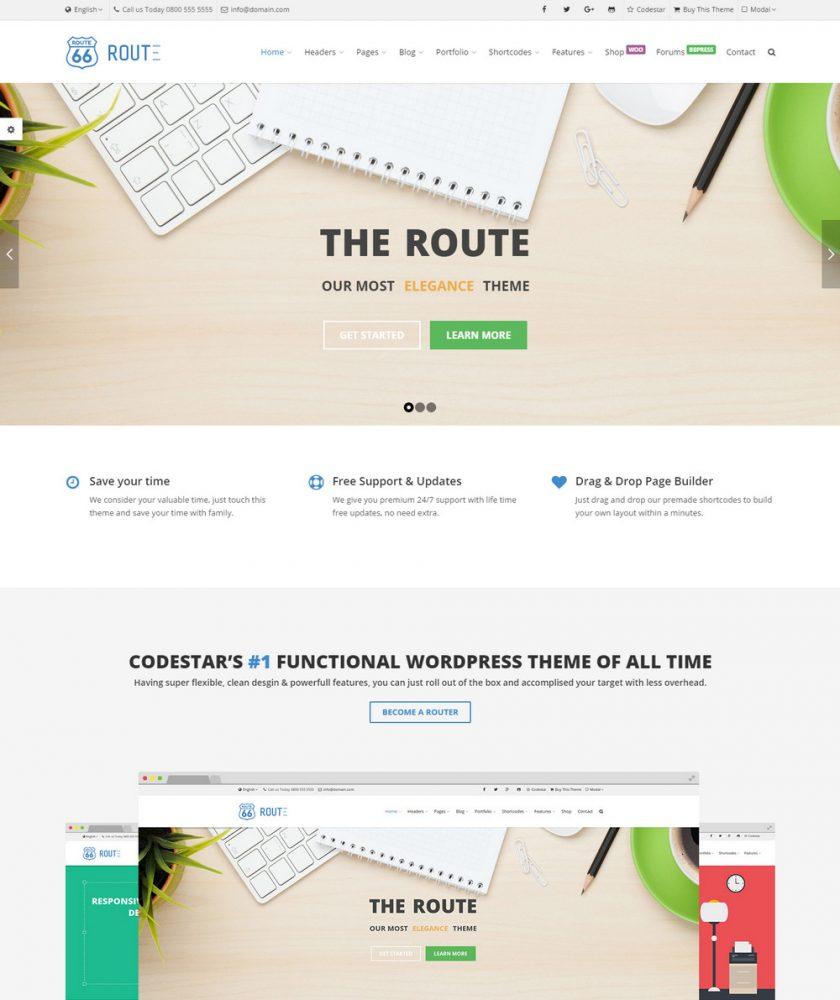 Route Responsive WordPress Theme