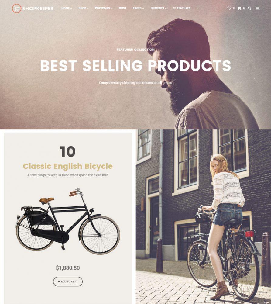 ShopKeeper WordPress Theme