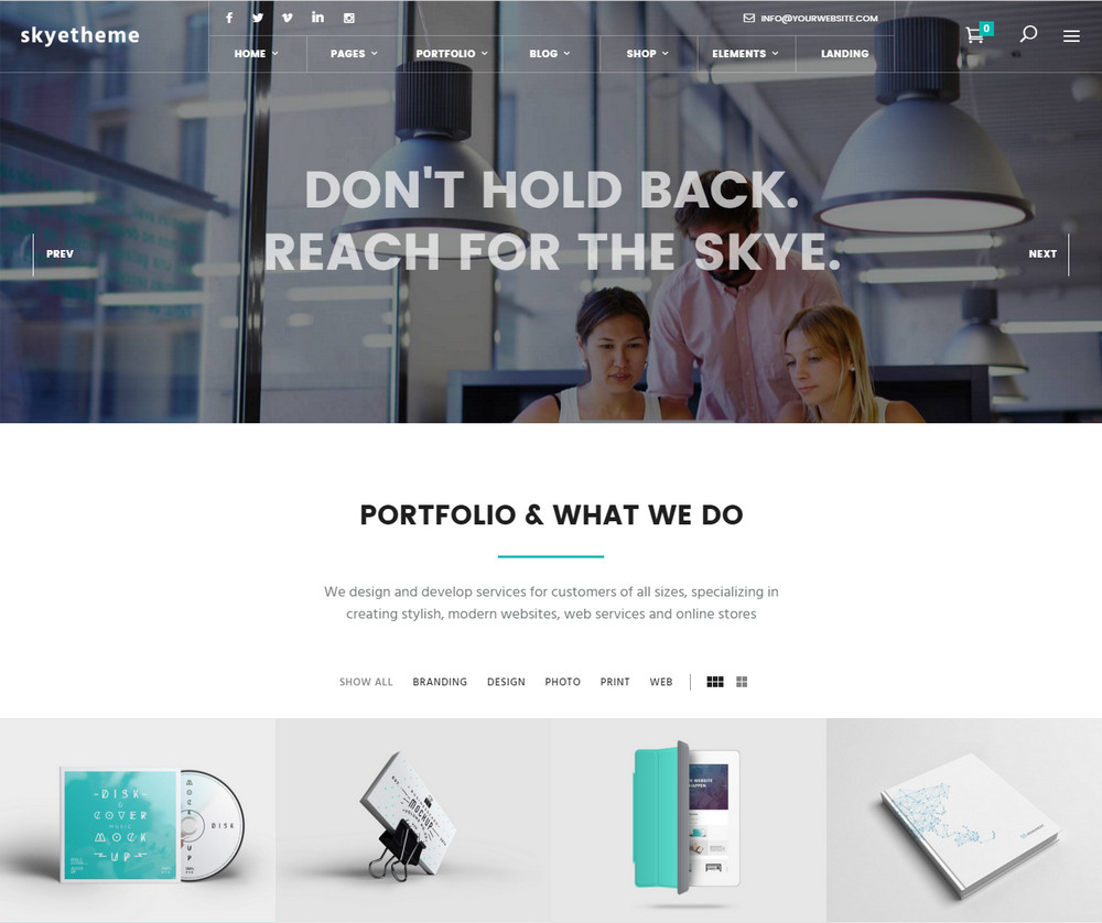 Skye WordPress Theme