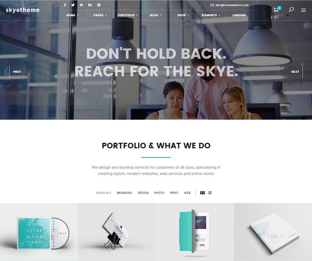 Skye WordPress Theme
