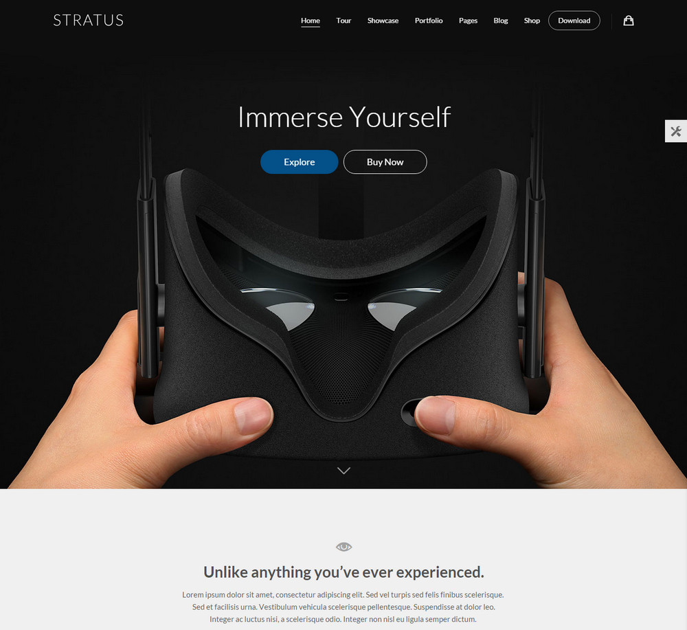Stratus - App WordPress Theme