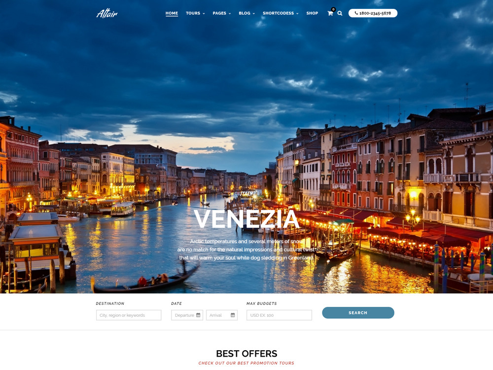 Tour Travel Agency theme for wordpress
